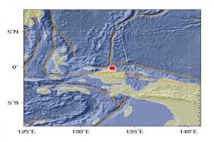 Gempa bumi tektonik guncang Kabupaten Kaimana