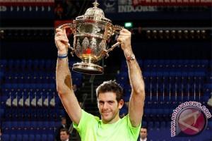 Del Potro kalahkan Federer untuk pertahankan gelar Basel