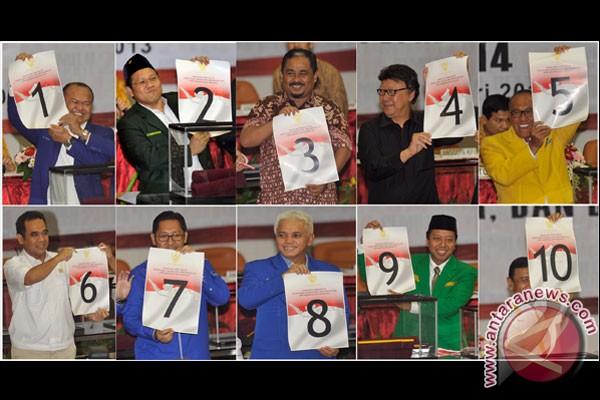 Hasil pengundian nomor urut parpol peserta Pemilu 2014