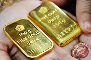 Harga emas turun tertekan penguatan dolar AS