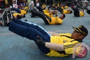 145 polisi gendut berangsur  langsing