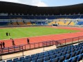 Stadion Gelora Bandung Lautan Api (GBLA) dalam proses penyelesaian tahap akhir, Bandung, Jawa Barat, Rabu (17/4). GBLA yang sedang dalam proses penyelesaian ini mampu menampung sebanyak 38 ribu penonton dan diharapkan menjadi salah satu bagian penunjang keberhasilan tim Persib Bandung. (FOTO ANTARA/Agus Bebeng)