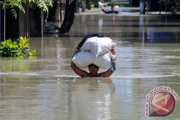Tanggul Sungai Wulan di Demak kembali jebol