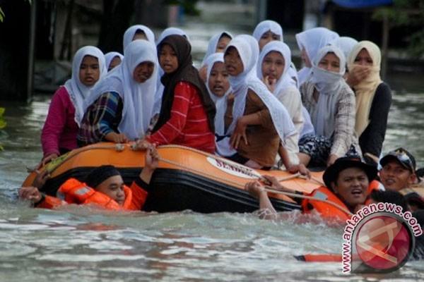 Ketinggian banjir di Demak  bertambah