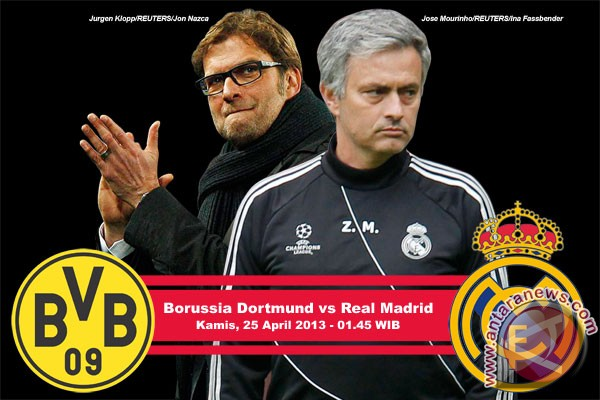 Statistik di balik skor 4-1 Dortmund atas Madrid