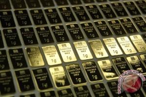 Emas tertekan penguatan saham dan dolar AS