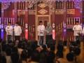 Keempat pasang calon Gubernur dan Calon Wakil Gubernur dari ki-ka sesuai nomer urut : Eddy Santana-Annisa Djuita, Iskandar Hasan Hafisz Thohir, Herman Deru-Maphilinda, dan Alex Noerdin -Ishak Mekky pada debat cagub cawagub sumsel di Hotel Aryaduta Palembang, Minggu (2/6). Keempat pasang calon ini akan berlaga di pemilukada Sumsel tanggal 6 Juni mendatang. (ANTARA FOTO/ FENY SELLY)