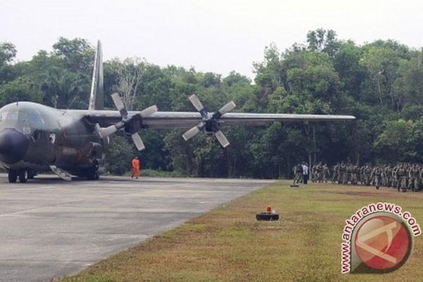C-130 Hercules TNI AU mulai semai hujan buatan