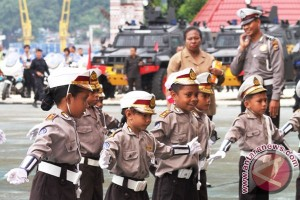 Program polisi cilik Polres Lampung Utara berlanjut