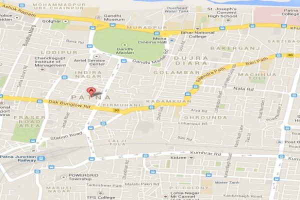 Patna India  city photos gallery : Map of Patna, India. maps.google.com