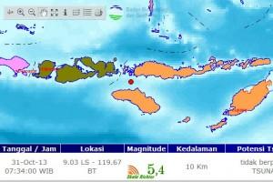 Gempa bumi 4,4 SR guncang Manggarai