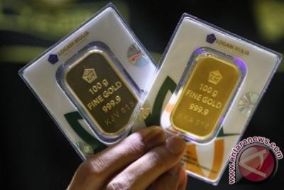 Emas naik jelang pengumuman hasil pertemuan Fed