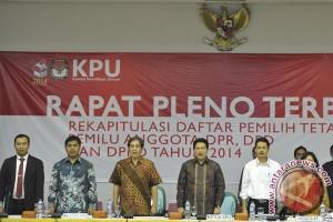 KPU tetapkan DPT sebanyak 186.612.255 pemilih