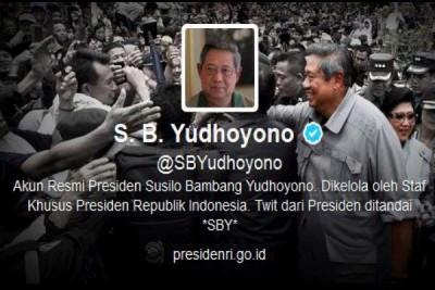 Twitter SBY: tidak ada pikiran sedikitpun ganggu Jokowi
