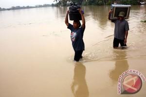Sejumlah daerah di Karawang masih banjir