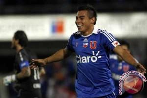Chile unggul sementara 1-0 atas Peru