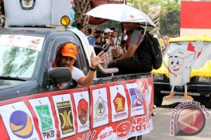 Indonesian political parties kick off nationwide campaigns