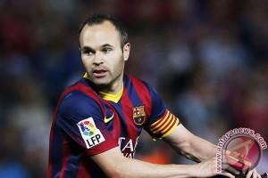 Iniesta absen karena cedera pada piala Super Spanyol