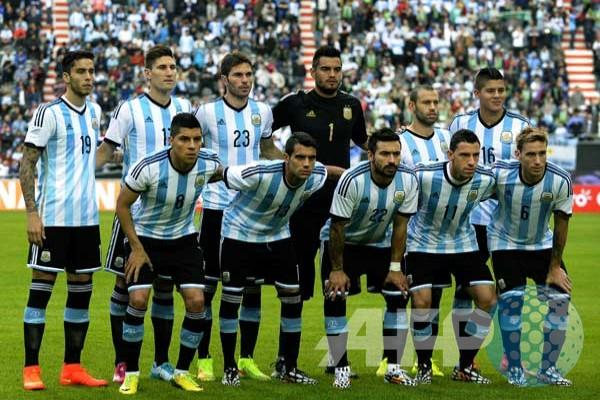 Tim Nasional Argentina  Foto Piala Dunia 2014 Brasil