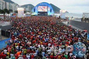 Gemerlap dan limbah di lokasi Olimpiade Rio
