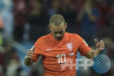 """Gol """"injury time"""" Sneijder selamatkan Belanda dari kekalahan"""