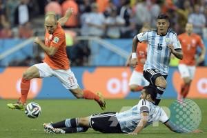 Belanda vs Argentina lanjut ke babak waktu tambahan