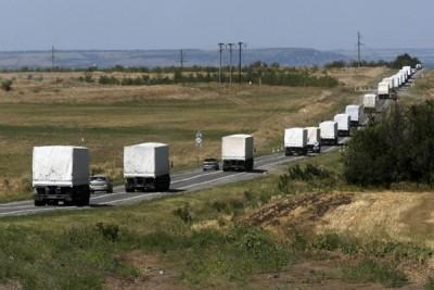 Rombongan bantuan kemanusiaan Rusia kembali dari Ukraina