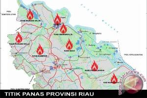 Titik panas Riau meningkat drastis