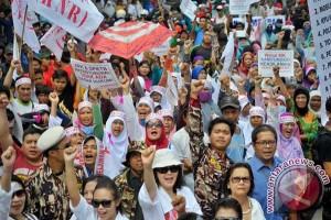 Aksi Pendukung Prabowo