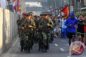President Yudhoyono sees off Independence Day Run
