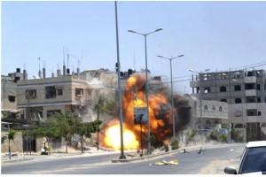 Israel balas tembakan roket Gaza dengan serangan