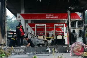 Dispenser SPBU Sentul City terbakar, tiga orang terluka