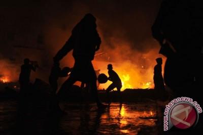 Kebakaran Pasar Hartaco Makassar