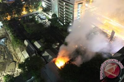 Satu bangunan di kompleks Kementerian ESDM terbakar