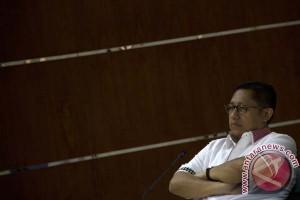Anas Urbaningrum tiba di Lapas Sukamiskin Bandung