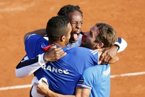 Pada bagian putra, Monfils yang pertama ke semifinal AS Terbuka