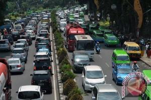 Ruas jalan protokol kota Bogor macet