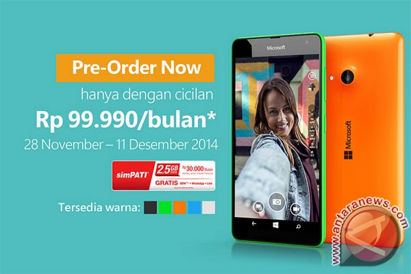 Microsoft Lumia 535 sudah bisa dipesan sekarang