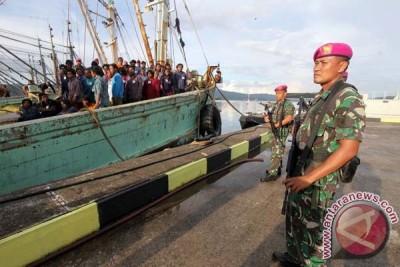 TNI AL kembali tenggelamkan kapal ikan asing