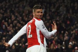 Arsenal mungkin mainkan Giroud sejak awal saat lawan PSG