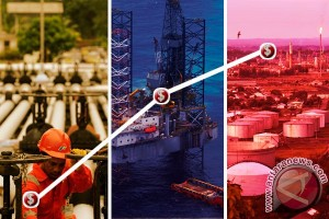 Harga minyak dunia melonjak setelah persediaan AS turun