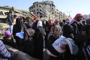 1.200 orang dievakuasi dari benteng oposisi dekat Damaskus