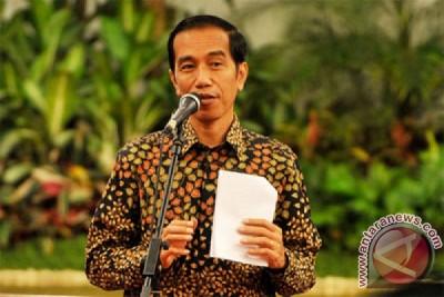 Presiden Jokowi beri arahan peserta rapimnas TNIi-Polri