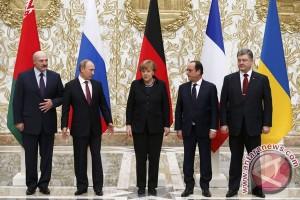 Hollande-Merkel-Poroshenko-Putin bahas situasi Ukraina