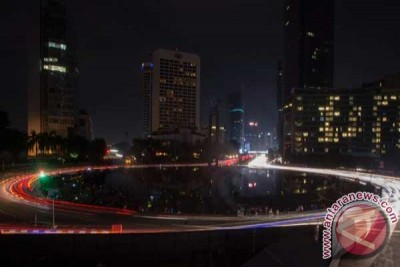 Sudirman-Thamrin gelap saat Earth Hour