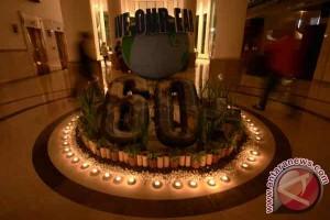 """Masjid Mujahidin gelap sebagian saat """"Earth Hour"""""""