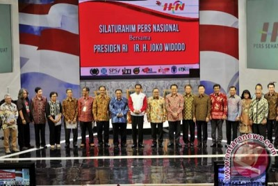 Jokowi Silaturahim Pers Nasional