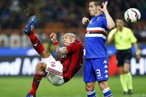 Milan imbang 1-1 melawan Sampdoria