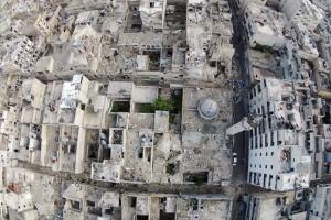 Jet-jet tempur Suriah serang balik pemberontak di Aleppo