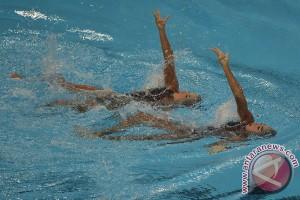 Duo Rusia peroleh emas pertama kategori campuran renang indah